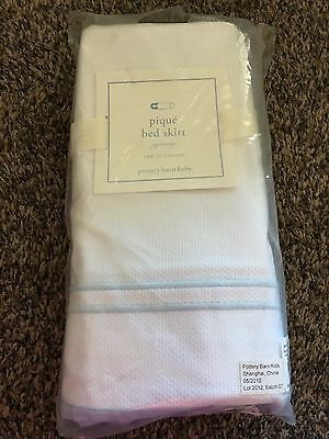 Pottery Barn Baby Pique' Bed Skirt New In Package