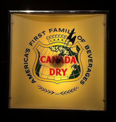 Vintage Canada Dry, America's First Family of Beverage, Advertising Clock