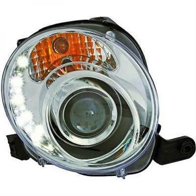 Fiat 500 LED Standlicht TFL Scheinwerfer Set Dragon Light H7 / chrom