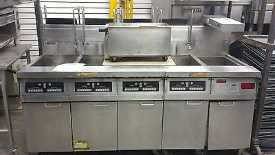 4 bay with dump , Frymaster Computer Magic Fryer Model#: FMH450BLCS NATURAL GAS