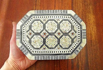 Impressive Wooden Jewellery Box - Mother Of Pearl Inlay Decoration - Beautiful