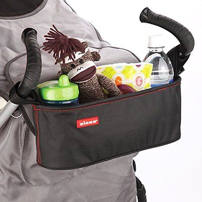 Diono Buggy Buddy Stroller Organizer Bag Storage Black Waterproof Baby Accessory