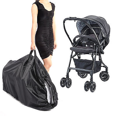 Waterproof Gate Check Pram Travel Bag Umbrella Stroller Pushchair Buggy Cover UK