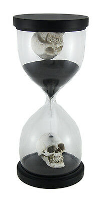 10 Inch Tall Gothic Skulls Sand Timer Hourglass