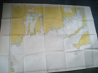 "Vintage 1963 Nautical Chart  Martha's Vineyard to Block Island 41 3/4"" x 35 3/4"""