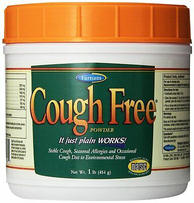Farnam Cough Free Powder for Horses Stable Coughing Seasonal Allergies Cold 1lb