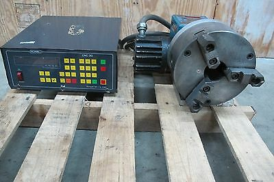 "RICHMILL 4TH AXIS INDEXER 1X5C w/8"" CHUCK  / RICHMILL CNC 30 CONTROLLER"