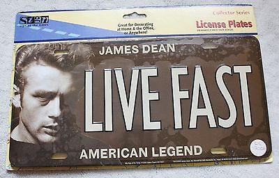 James Dean Collector Series Decorative Metal License Plate Live Fast Sign New