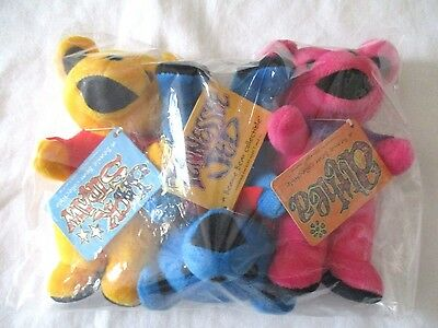3 Grateful Dead Beanie Bears Tennessee Jed Althea Jack Straw Steven Smith New