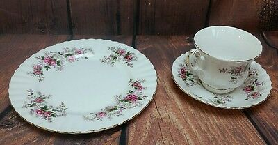 "Royal Albert Lavender Rose 8 1/8"" Dessert Plate and 5.5"" saucer England china"