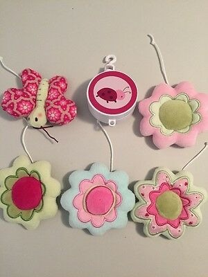 Replacement Plush Flower Butterfly Toys & Musical Spinner for Crib Mobile VGUC