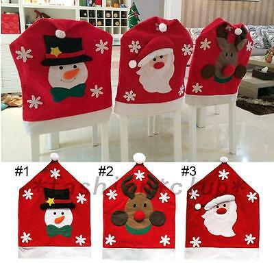 Xmas Decorations Happy Santa Claus Chair Cover Dinner Table Party Decor