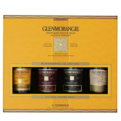 Glenmorangie 4 Bottle Scotch Whisky Taster Pack Single Malt Birthday Gift