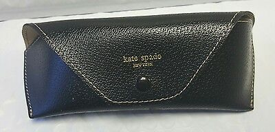Auth. Kate Spade Black Soft Eyeglasses Sunglasses CASE ONLY