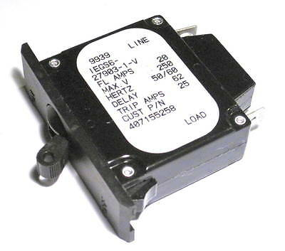 Airpax 20 Amp 250 V 1 pole circuit breaker IEGS6-27903-1-V 407155258