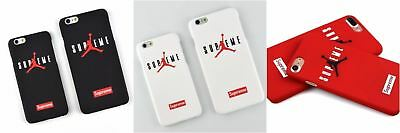 Supreme X Air Jordan Apple iPhone X, 7, 7S, 6, 6S Regular Plus Case FREE Sticker