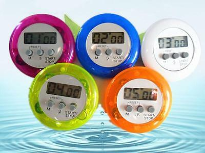 Mini Magnetic Round LCD Digital Cooking Kitchen Gadget Countdown Alarm Timer #@