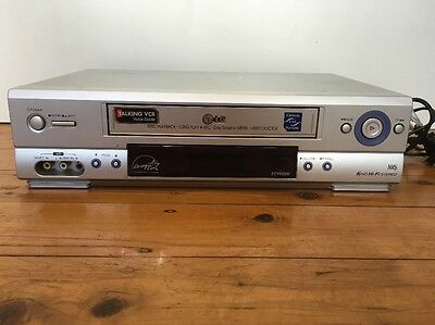 LG EC990SW VCR VHS TAPE PLAYER, Good Condition. Works Perfectly 6HD HI FI STEREO