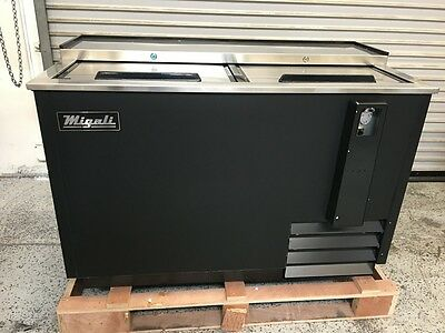 "NEW 50"" Slide Top Bottle Cooler CHBC-50 Migali #6359 Commercial NSF Beer Wine"