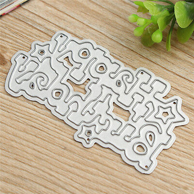 Brithday Metal Cutting Dies DIY Scrapbooking Album Paper Card Embossing Craft