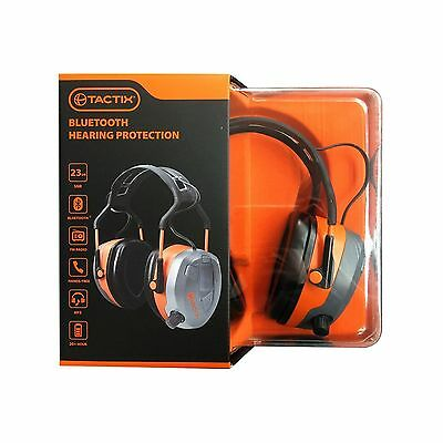 BLUETOOTH EARMUFF Hearing Protection with FM Radio and Hands Free Call Answering
