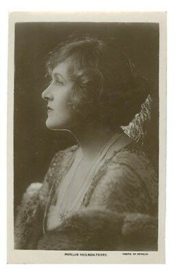 Stage And Movie Actress Phyllis Neilson-Terry RPPC Real Photo Postcard