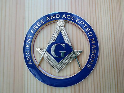 Masonic Auto Car Badge Emblems E1  Freemason ANCIENT FREE AND ACCEPTED MASONS