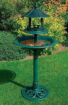 Traditional Bird Bath Water Weather proof Table Outdoor Garden feeding station