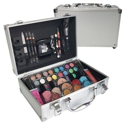 79 Piece Vanity Case Beauty Cosmetic Set Gift Travel Make Up Box Xmas Storage