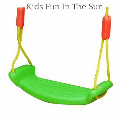Kids Childrens Green Plastic Swing Seat Rope Garden Outdoor Tree Swing Summer