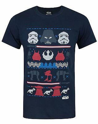 Star Wars Dark Side Fair Isle Christmas Men's T-Shirt