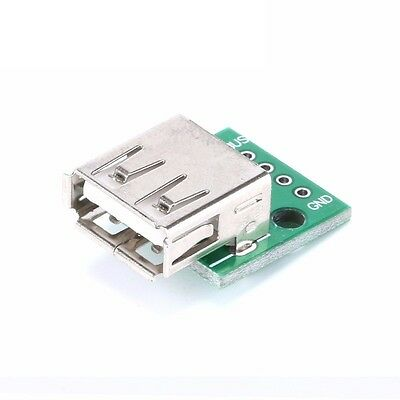 5PCS Type A Female USB To DIP 2.54MM PCB Board Adapter Converter For Arduino UK