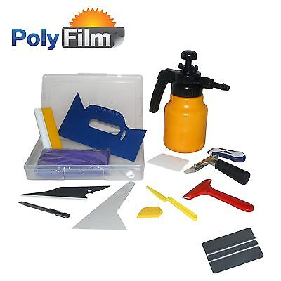 15pc Professional Window Tint Tools Kit Car House Office Film Squeegy Knife Set