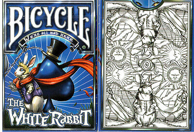 CARTE DA GIOCO BICYCLE THE WHITE RABBIT, unkimited edition,poker size