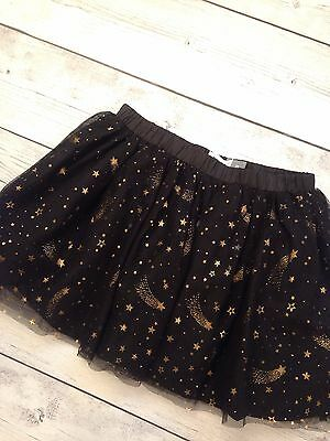 Ships FREE Old Navy Baby Girl Black Tutu Shooting Gold Stars - Size 3T