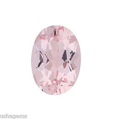 Natural Gemstone Certified Pink Morganite Oval Cut 8x10mm 2.35Cts