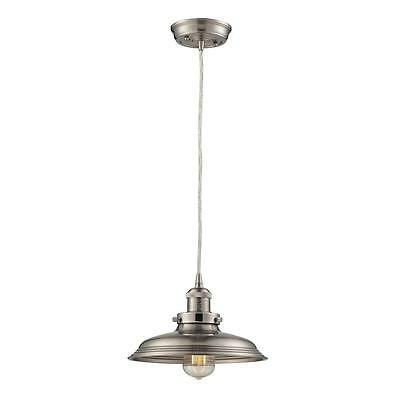 Pendant 1-Light Vintage Brushed Nickel Shade Solid Home Decorators Collection