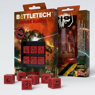 Q-Workshop BattleTech House Kurita D6 Dice set (6) | Würfel, W6