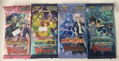 4x Cardfight Vanguard Booster Packs - Mystical Magus Dazzling Divas Celestial