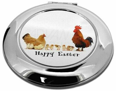Hen, Chicks, Happy Easter Make-Up Round Compact Mirror Christmas Gi, AB-107EACMR