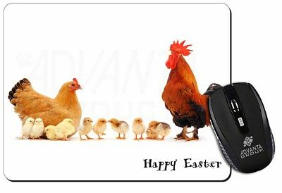 Hen, Chicks, Happy Easter Computer Mouse Mat Christmas Gift Idea, AB-107EAM