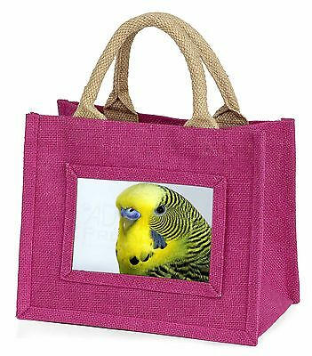 Yellow Budgerigar, Budgie Little Girls Small Pink Shopping Bag Christm, AB-51BMP