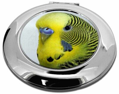 Yellow Budgerigar, Budgie Make-Up Round Compact Mirror Christmas Gift, AB-51CMR