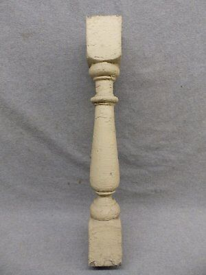 1 Antique Turned Wood Spindle Porch Baluster Thick Old Vtg Architectural 525-17R