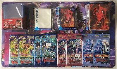 Cardfight Vanguard Bundle - 8x Boosters, Sleeves, Toploaders, Deck Box & Playmat