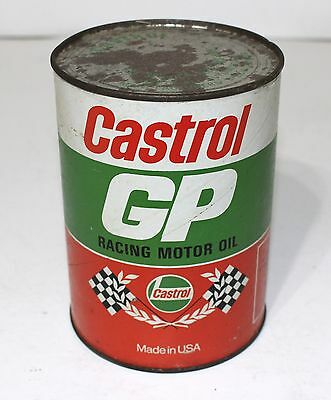 Vintage Castrol Race Motor Oil Full Can 40SAE NHRA Ford Chevrolet Dodge Plymouth
