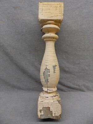 1 Antique Turned Wood Spindle Porch Baluster Thick Old Vtg Architectural 529-17R