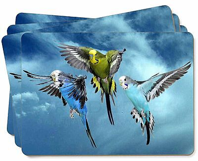 Budgies in Flight Picture Placemats in Gift Box, AB-96P