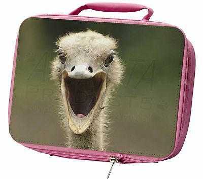 Ostritch Photo Print Insulated Pink School Lunch Box Bag, AB-OS1LBP
