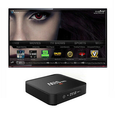 M8S PRO 4K CON DISPLAY ANDROID INTERNET TV SMART BOX 1GB / 8GB DECODER IPTV led